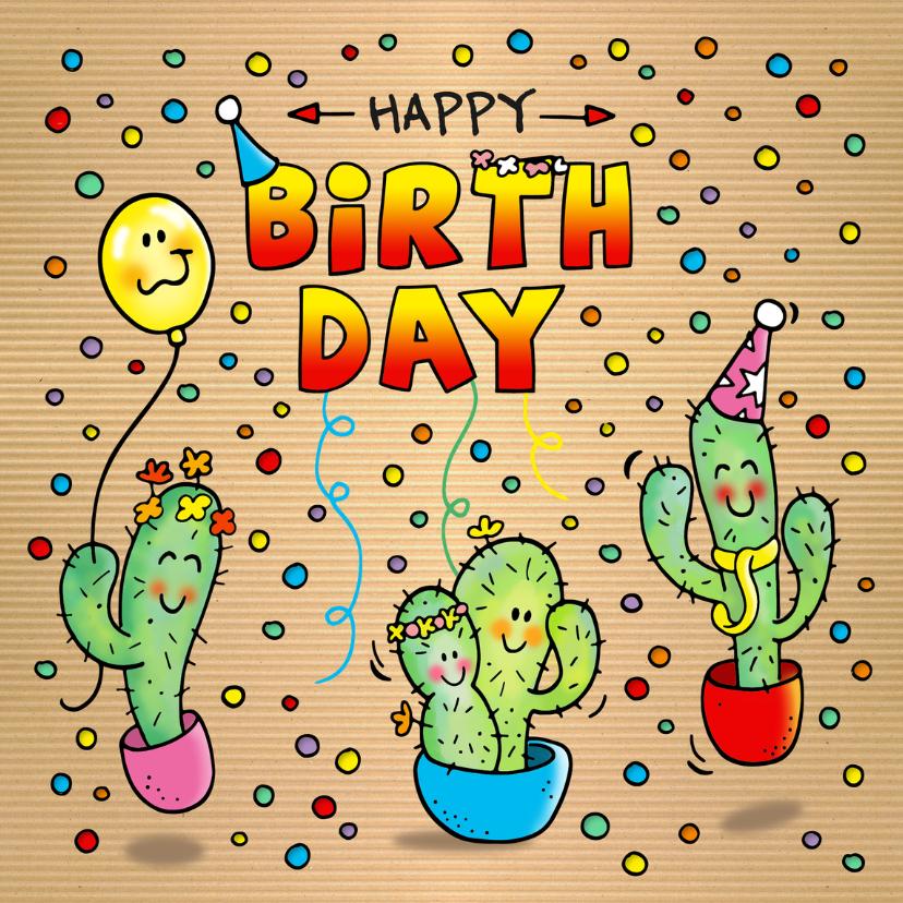 Verjaardagskaarten - Verjaardag Cactus Fiësta