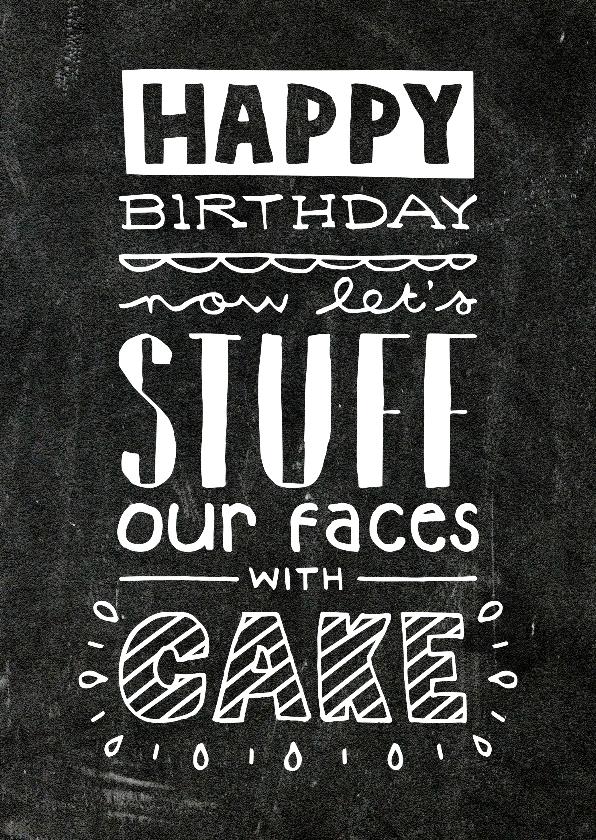Verjaardagskaarten - Verjaardag Cake