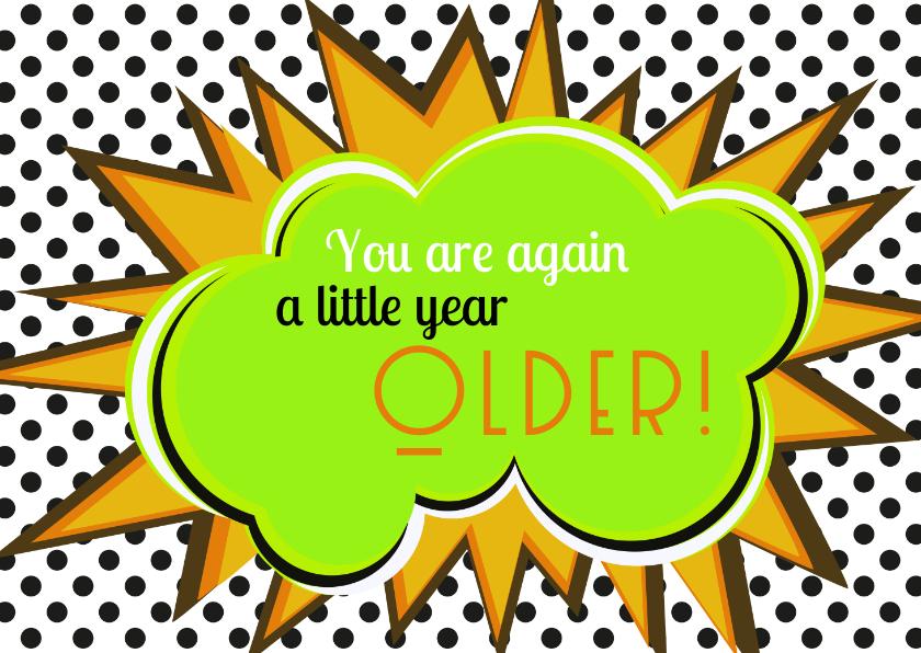 Verjaardagskaarten - verjaardag dunglish older