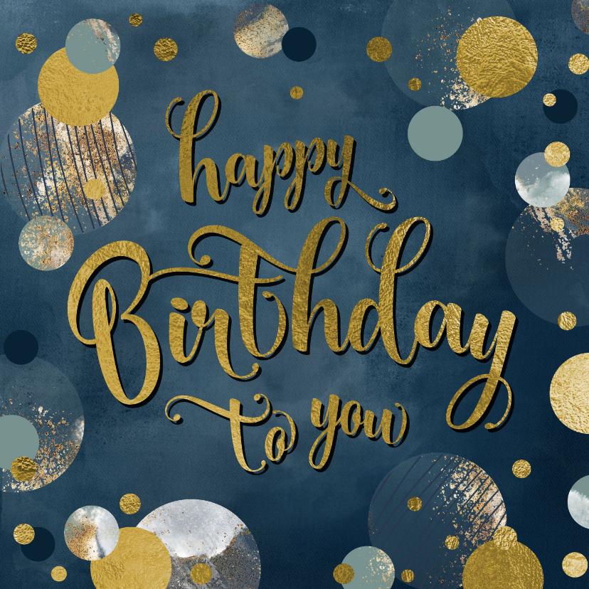 Verjaardagskaarten - Verjaardag felicitatie wenskaart confetti man