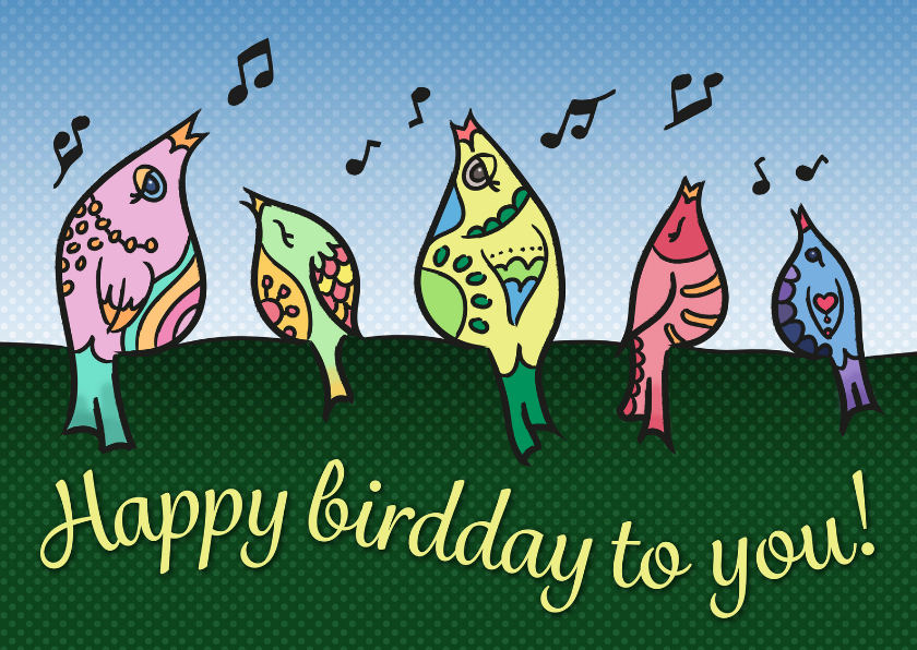 Verjaardagskaarten - Verjaardag - happy birdday!