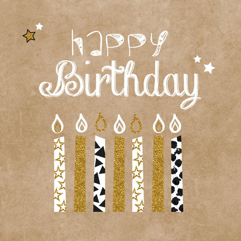 Verjaardagskaarten - Verjaardag hip en glamour kaarsjes