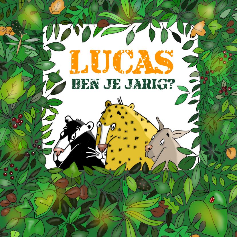 Verjaardagskaarten - Verjaardag - jungle verjaardagswens