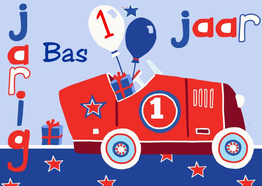 Verjaardagskaarten - verjaardag kind 1 jaar auto
