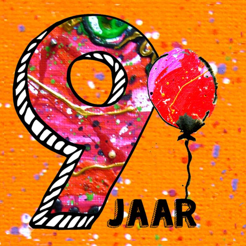 Verjaardag kind 9 jaar verjaardagskaarten kaartje2go for Poppenhuis kind 2 jaar