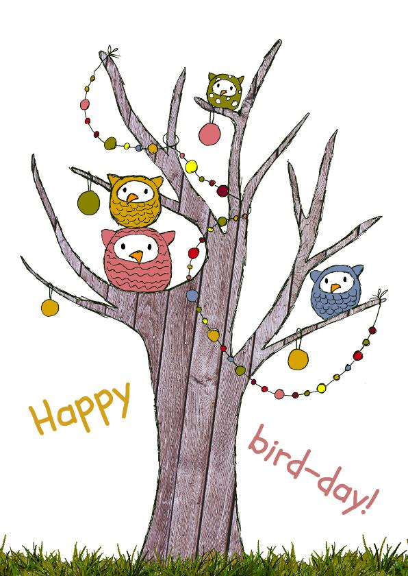 Verjaardag Kind Uiltjesboom Kaartje2go
