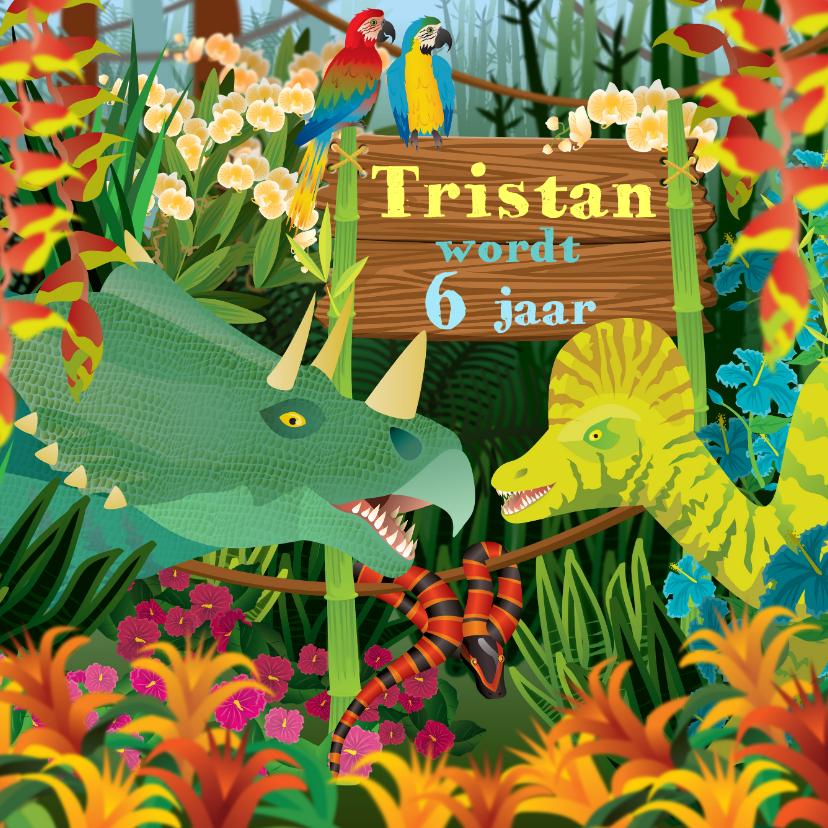 Verjaardagskaarten - Verjaardag kinderkaart dinosaurus jongenskaart