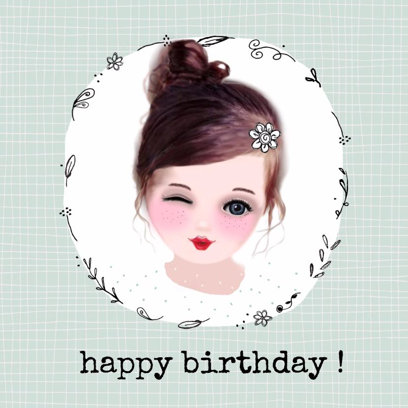 Verjaardagskaarten - Verjaardag knipoog - LT