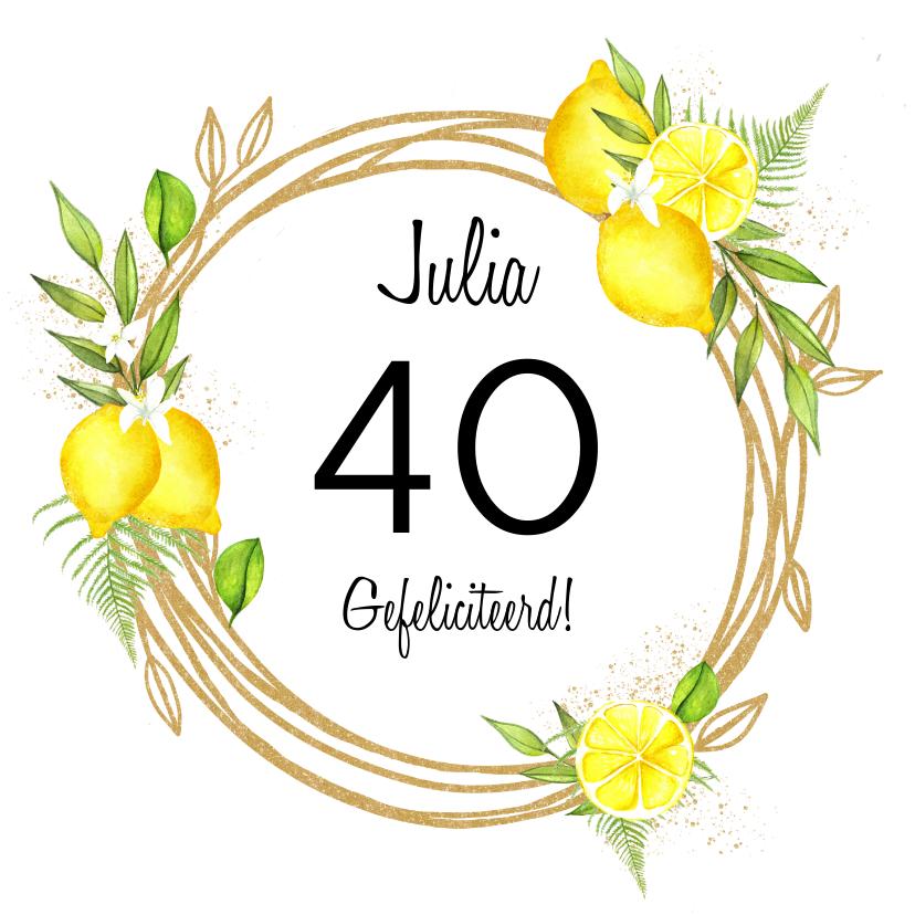 Verjaardagskaarten - Verjaardag leeftijd citroen