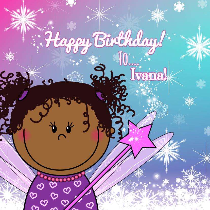 Verjaardagskaarten - Verjaardag lief getint feetje