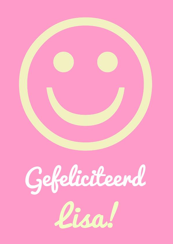 Verjaardagskaarten - Verjaardag lieve smiley IW