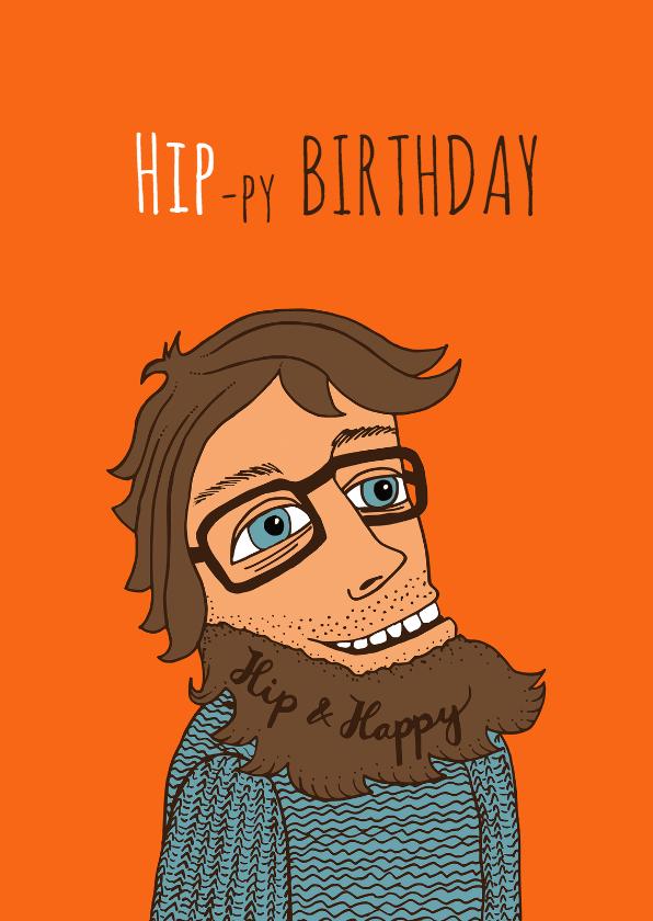 Verjaardag Man Hipbruin Verjaardagskaarten Kaartje2go