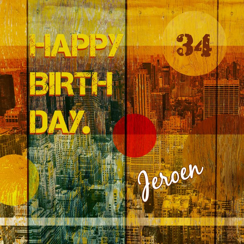 Verjaardagskaarten - Verjaardag-man-stad-HR