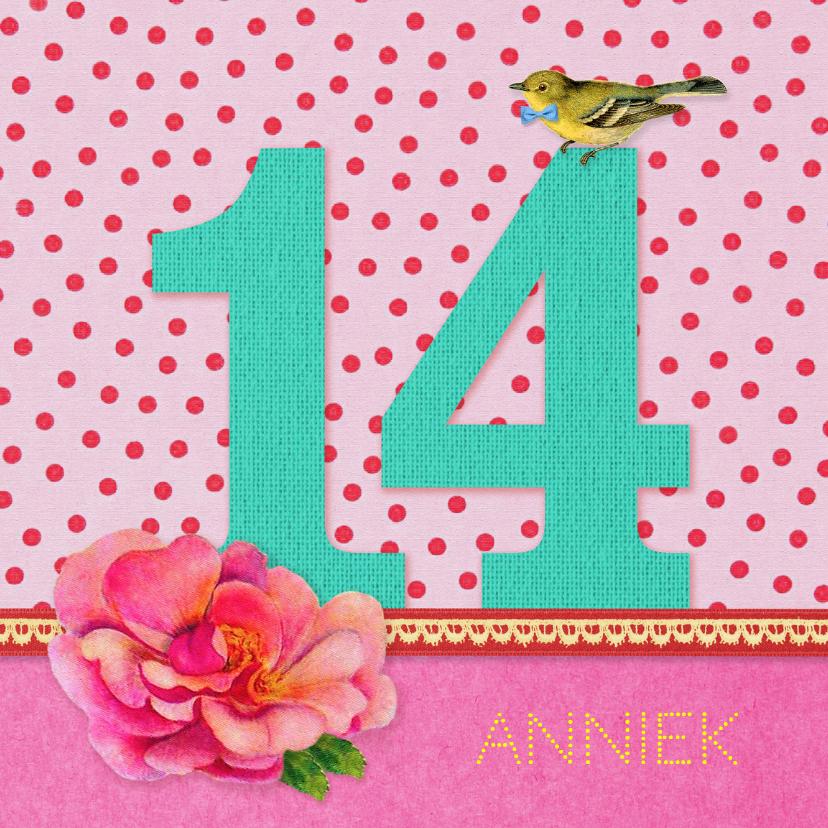 Verjaardagskaarten - Verjaardag Meisje 14