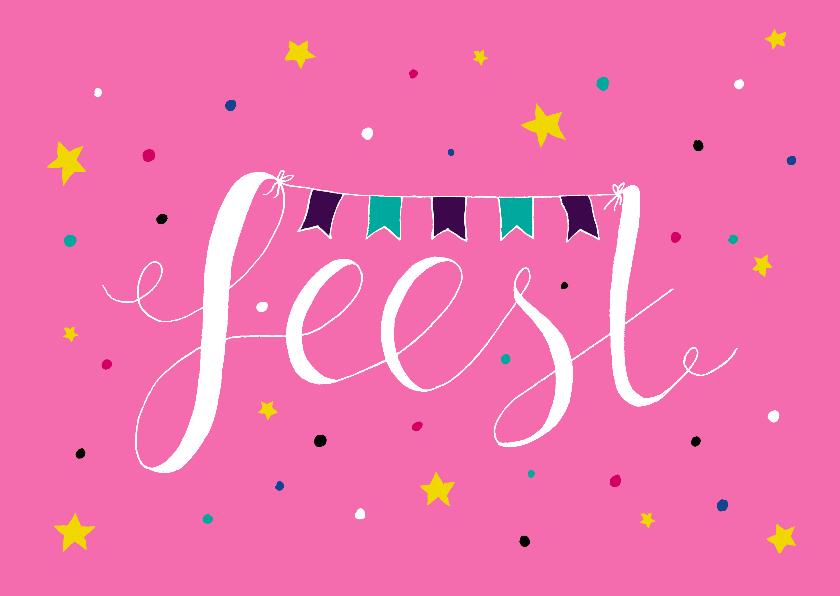 Verjaardagskaarten - Verjaardag meisje feest roze - HR