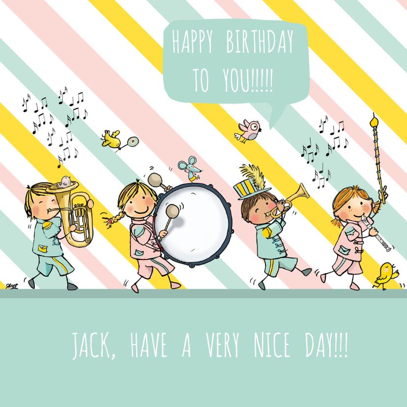 Verjaardagskaarten - Verjaardag orkest circus av