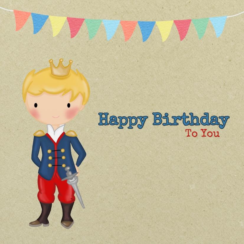 Verjaardagskaarten - Verjaardag Prinsje Zwaard