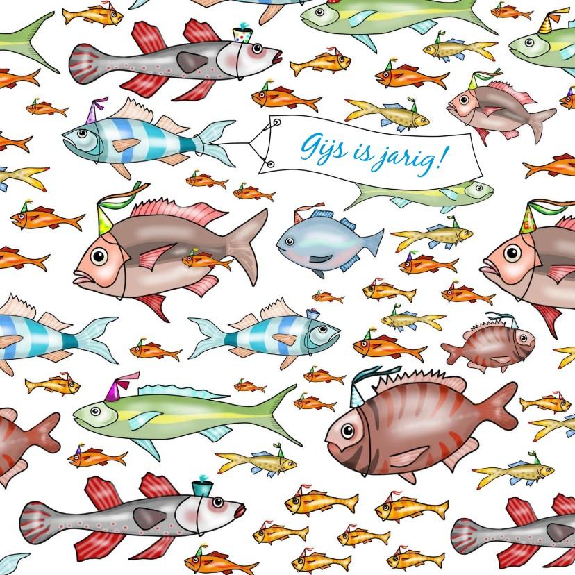 Verjaardagskaarten - Verjaardag - school vissen