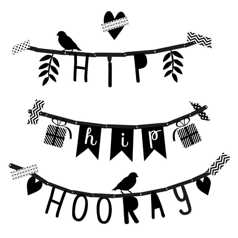 Verjaardagskaarten - Verjaardag slinger hhh - B