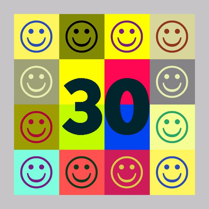 Verjaardagskaarten - Verjaardag smileys IW