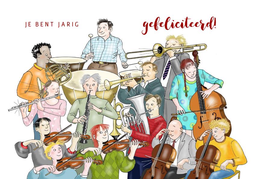 Verjaardagskaarten - Verjaardag - Symfonie orkest