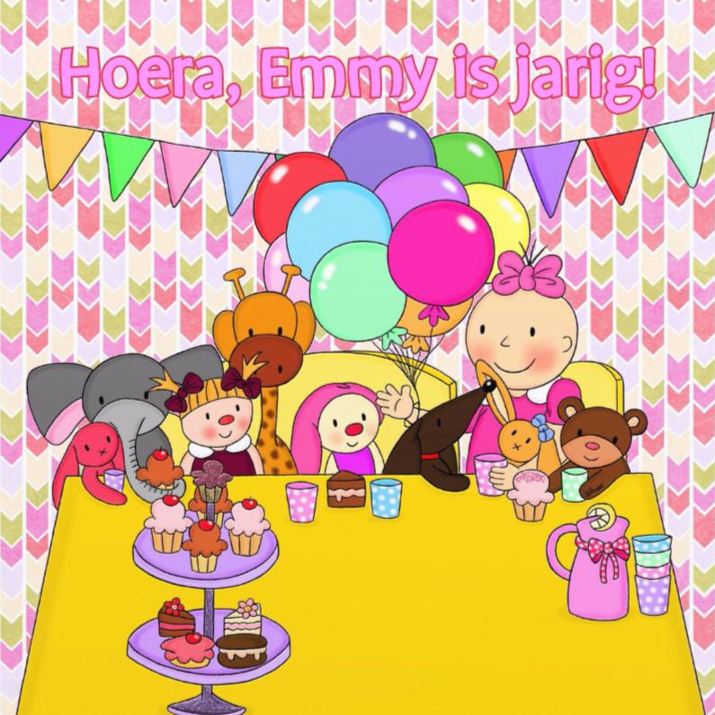 Verjaardagskaarten - Verjaardag Tea Party - TbJ