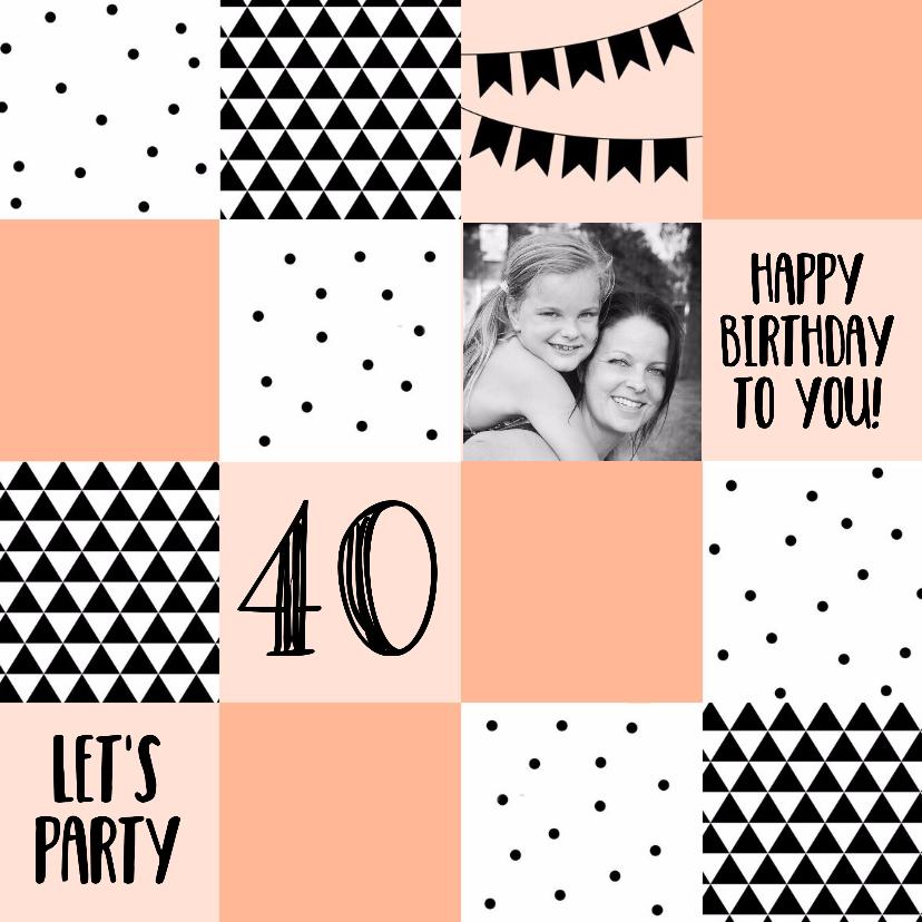Verjaardagskaarten - Verjaardag/uitnodiging blok 2-WW