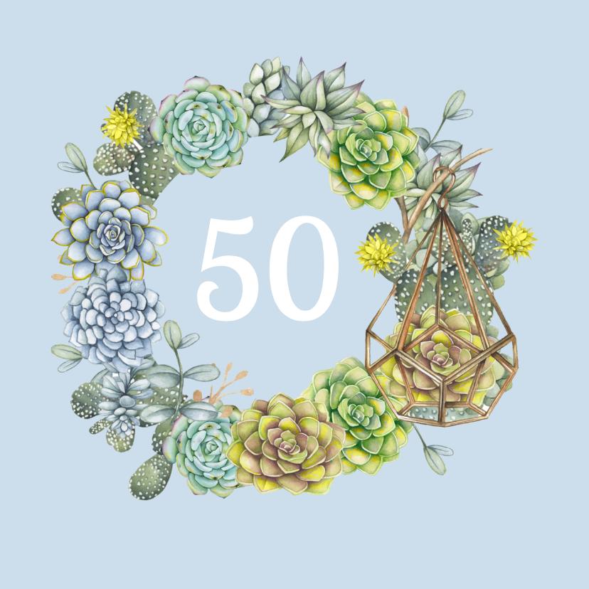 Verjaardagskaarten - verjaardag vetplant cactus