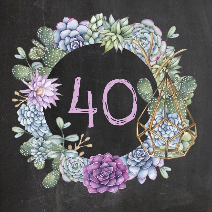 Verjaardagskaarten - Verjaardag vetplanten cactus