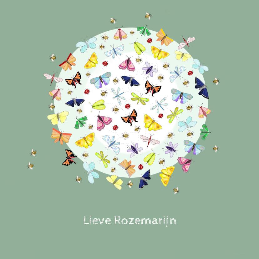 Verjaardagskaarten - Verjaardag - vlindercirkel