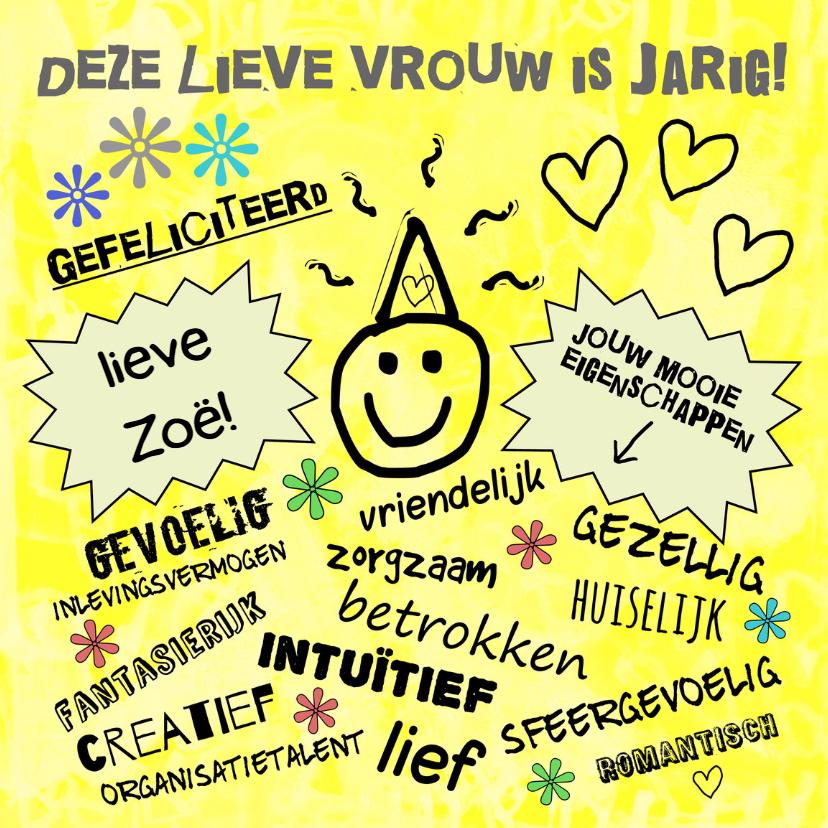 Verjaardagskaarten - Verjaardag yellow sunshine IW