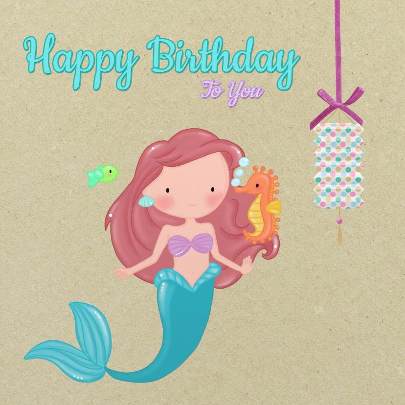 Verjaardagskaarten - Verjaardag Zeemeermin