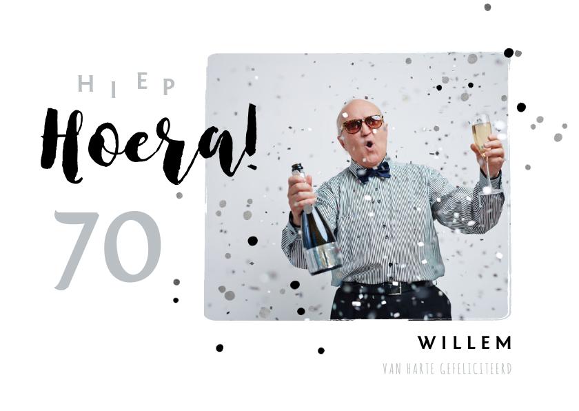 Verjaardagskaarten - Verjaardagkaart felicitatie man typografisch foto