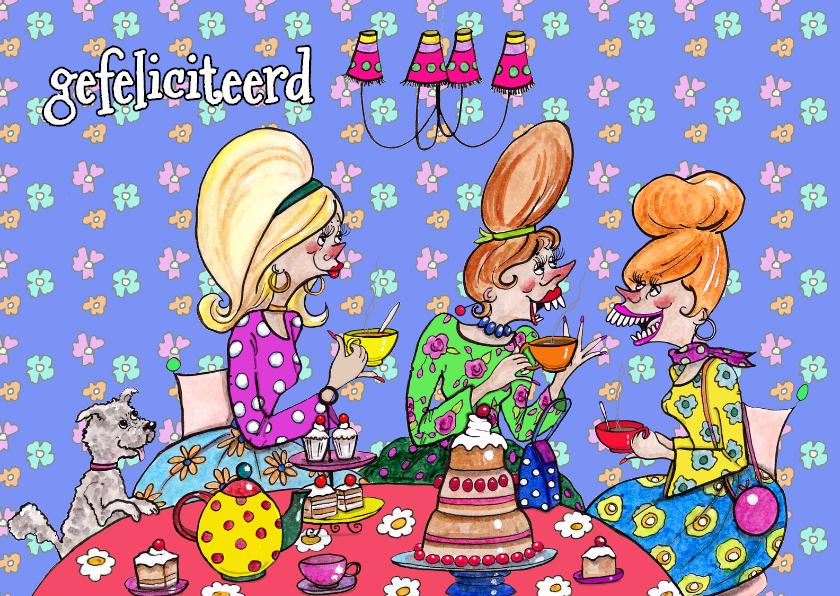 Verjaardagskaarten - verjaardagsfeest kroonluchter