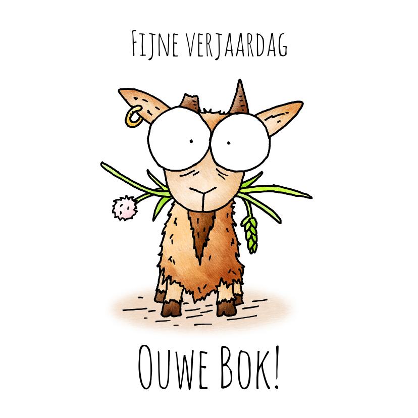 Verjaardagskaarten - Verjaardagsfelicitatie geit - Fijne verjaardag ouwe bok!