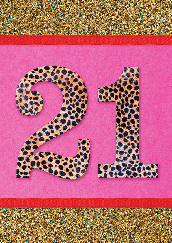 Verjaardag 21 Vrouw.Verjaardagskaart 21 Wenskaart 2019