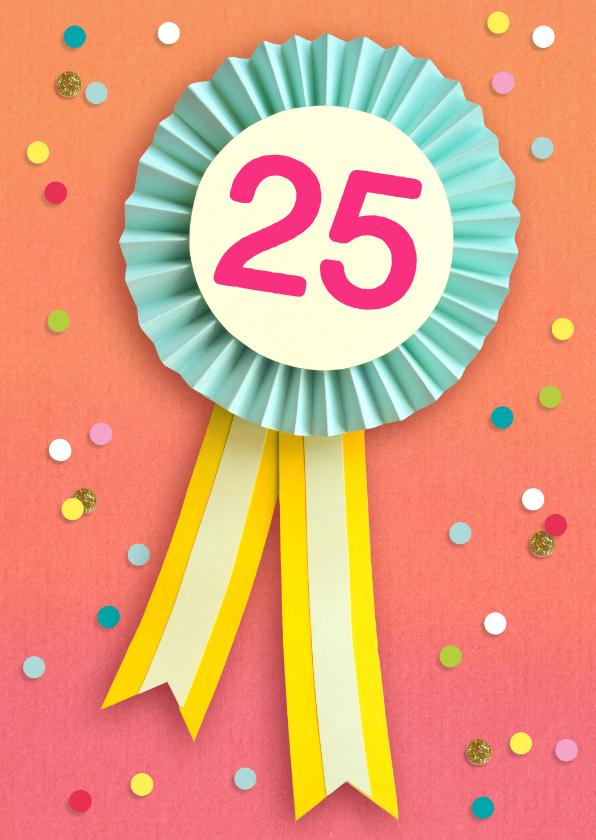 Verjaardagskaart 25 jaar vaantje | Kaartje2go