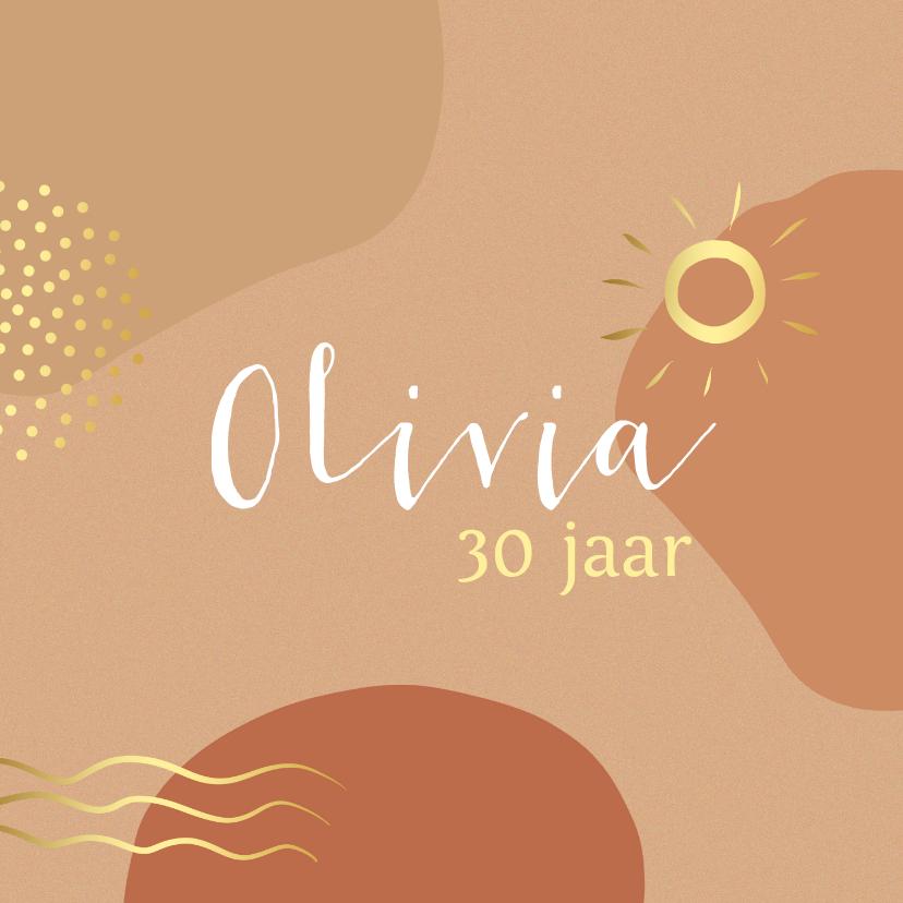 Verjaardagskaarten - Verjaardagskaart 30 jaar vlakken
