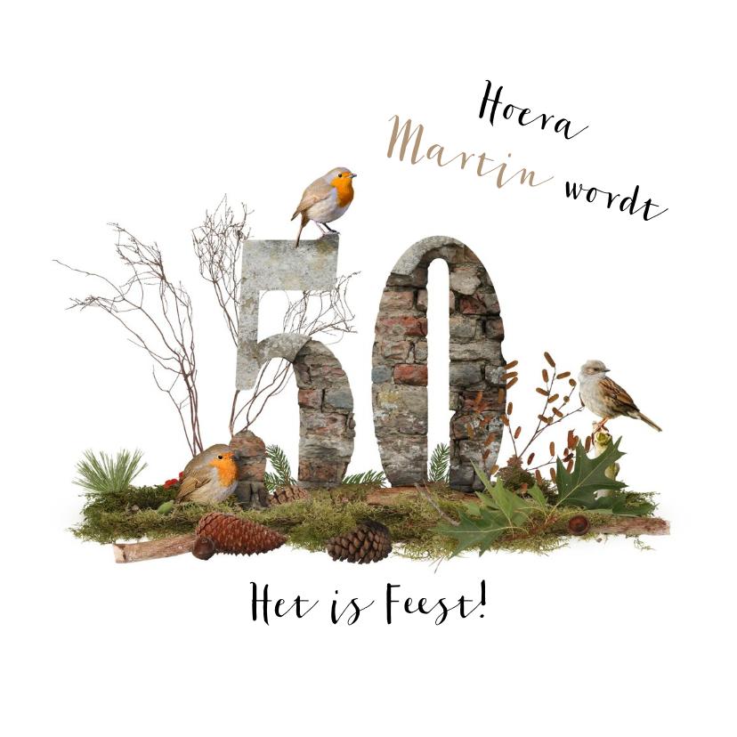Verjaardagskaarten - Verjaardagskaart 50 jaar natuur
