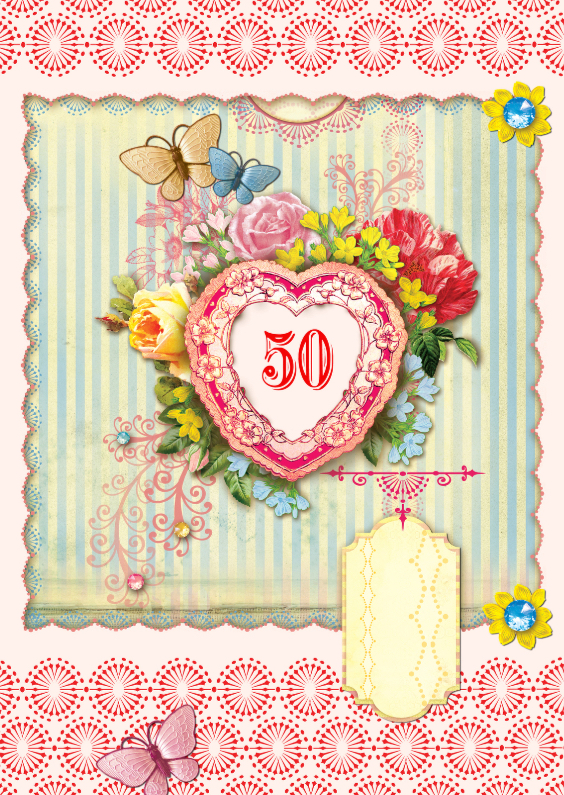 Verjaardagskaarten - Verjaardagskaart 50 - SG