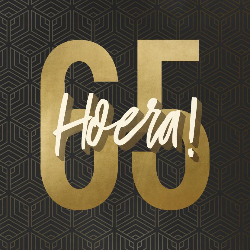 Verjaardagskaarten - Verjaardagskaart 65 geometrisch hoera