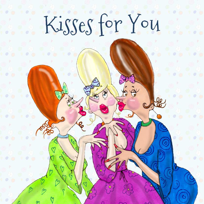 Verjaardagskaarten - Verjaardagskaart a lot of kisses for you!
