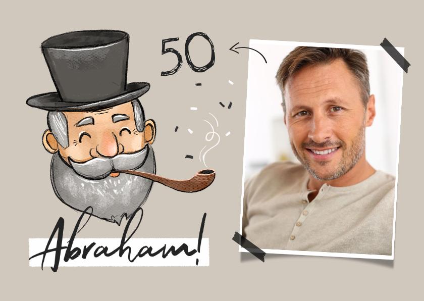 Verjaardagskaarten - Verjaardagskaart abraham 50 jaar vintage foto
