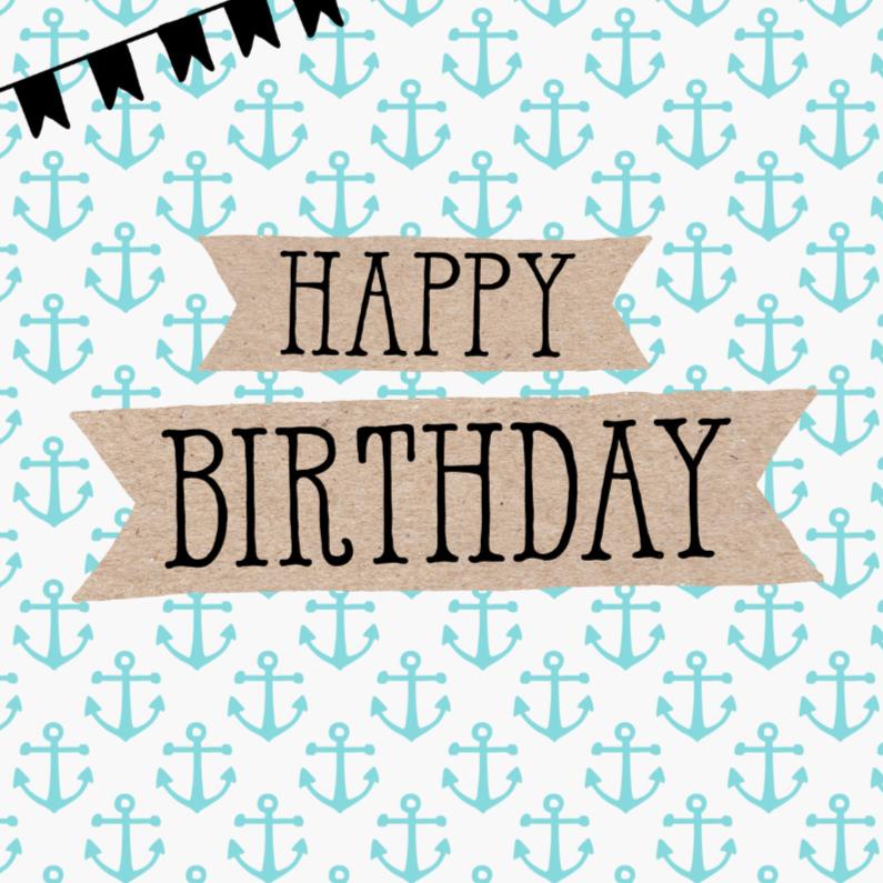 Verjaardagskaarten - Verjaardagskaart Anker