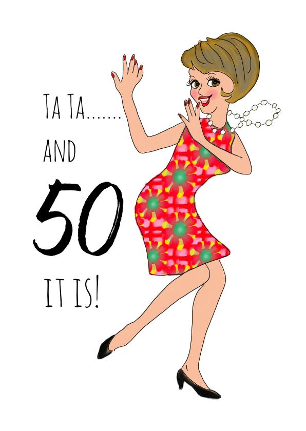 Verjaardagskaarten - Verjaardagskaart Babs 50
