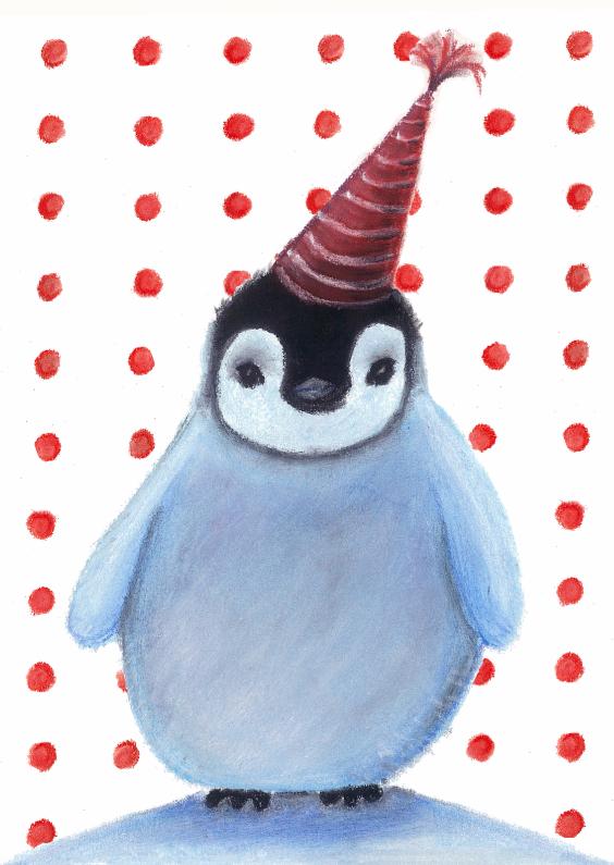 Verjaardagskaarten - Verjaardagskaart babypinguin