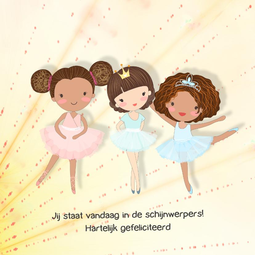 Verjaardagskaarten - Verjaardagskaart ballet-meisjes