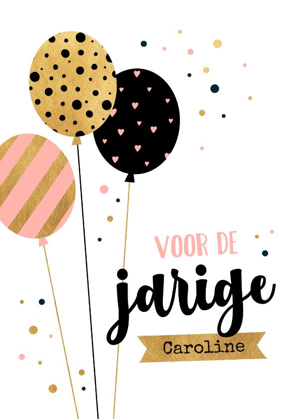 Verjaardagskaarten - Verjaardagskaart ballon patroon