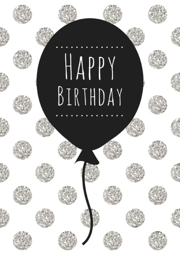 Verjaardagskaarten - Verjaardagskaart Ballon - WW