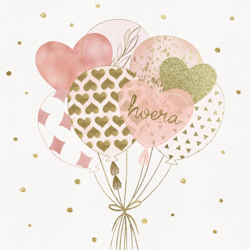 Verjaardagskaarten - Verjaardagskaart - Ballonnen en Confetti